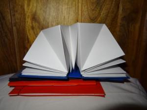 hardback square concertina fold 2