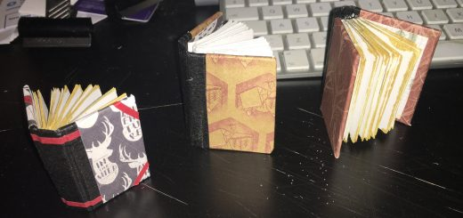 3 small notebooks